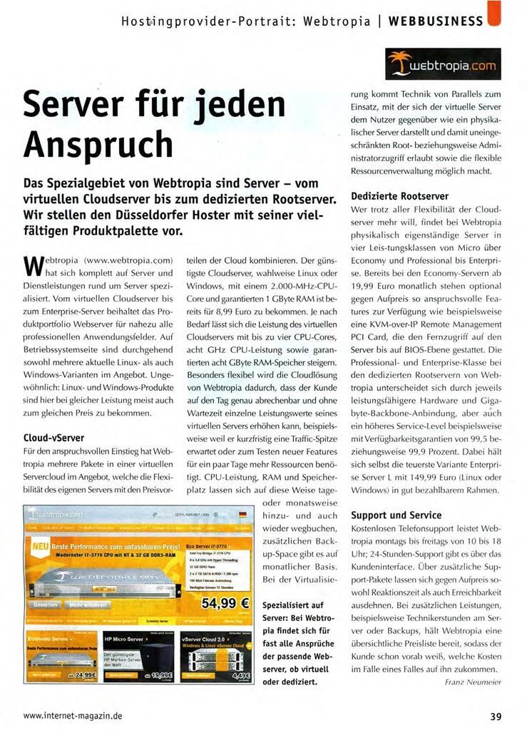 Internet Magazin Artikel